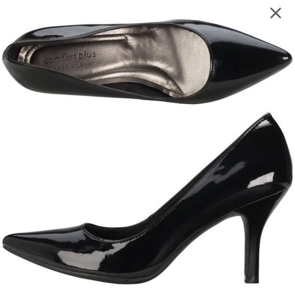 fcb2b2b0eedb Comfort Plus Shoes - Black pointed toe pumps